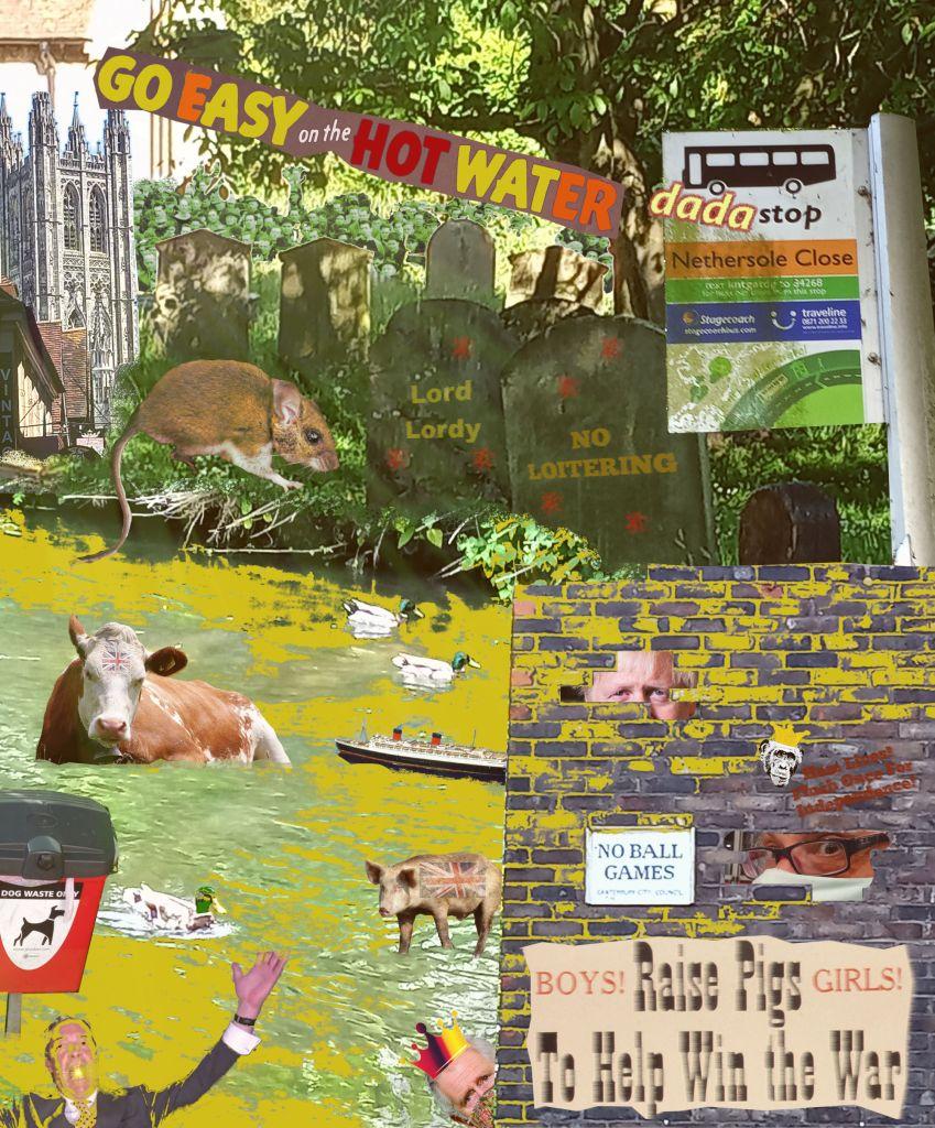 Dada Cantersticks - Jay Leonard Schwartz - @jschwartz63 - Dadaism - Digital Collage